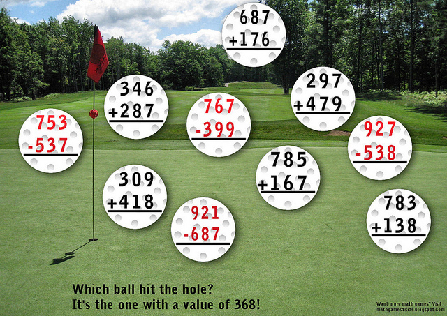 golf math game